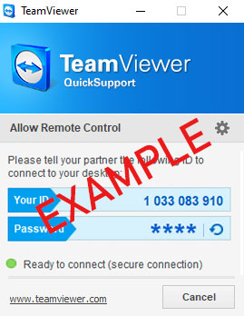 Sample for TeamViewer