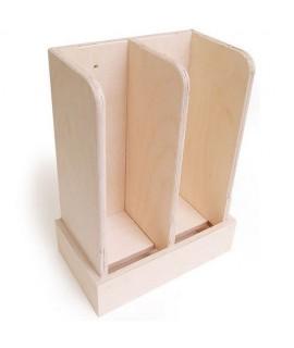 Wooden Coaster Holder - 1 Slot