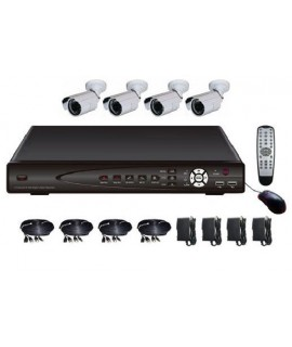 4 Camera H.264 Indoor/Outdoor CCTV Video Surveillance System