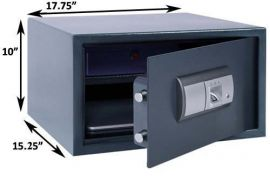 Dimensions of the FS-01-L Fingerprint Safe